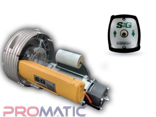 MOTOR CORTINA ENRROLLABLE DE IMPULSO SEG ROLL 60 CON ELECTROFRENO Y BOTONERA